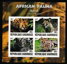 Serval wild cat souvenir sheet mnh imperf