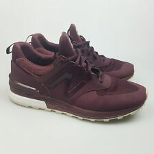 Men's NEW BALANCE '574' Sz 8 US Runners Maroon Shoes White  3+ Extra 10% Off
