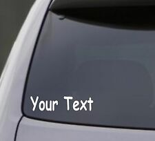 "YOUR TEXT Vinyl Decal Sticker Car Window Bumper CUSTOM 6"" Personalized Lettering"