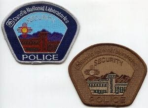 SANDIA NATIOANL LAB NEW MEXICO DOE ENERGY 2 Police Patches SECURITY POLICE PATCH