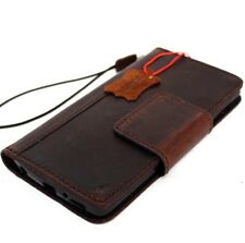 genuine leather hard case for LG V10  book cards wallet cover masnet brown retro