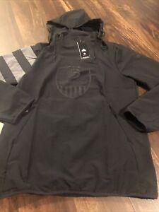 New Adidas USA Volleyball Mens Jacket Size Small Black Gray