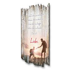 Wandbild Liebe Landhaus Shabby aus Holz mit Spruch und Motiv Wand-Deko 30x20