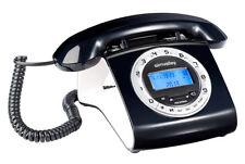 Simvalley Schnurgebundenes Retro-Festnetztelefon - orange