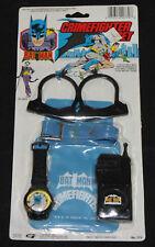 1982 BATMAN CRIMEFIGHTER SET Utility Belt w/ Pouch Handcuffs & Walkie-Talkie