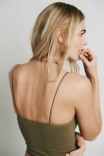 New Free People Womens Seamless Stretchy Skinny Strap Brami Crop Tank Top Cami