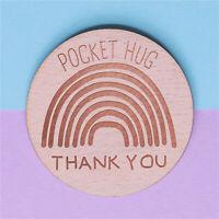 Wooden Pocket Hug Tokens Rainbow Keepsake Gift for Her for Him Friends Mum Dad