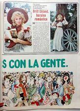 BRITT EKLAND => 1 page 1981  SPANISH CLIPPING !!!