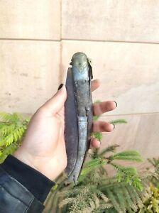 Antique Hand Forged Bone & Brass Handle Locking System Folding Pocket Knife
