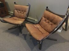 NICE VINTAGE MID CENTURY MODERN SIGURD RESSELL LEATHER CHAIR SET