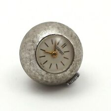 Rhodium Plated Pierpont Swiss Watch Co Charm Pendant 17 Jewel Swiss Movement