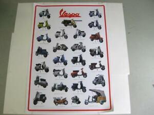 Poster 98x68cm Modellübersicht Vespa