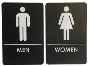 Men's and Women's Restroom Signs ADA Compliant Bathroom Door Restaurant Made USA