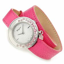 Ferragamo Women's F64SBQ91201 S109 Gancino Sparkling Topez Pink Leather Watch