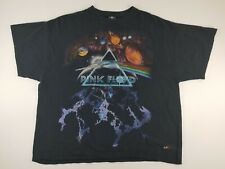 Pink Floyd Dark Side of the Moon Space Planets 2008 Black 2 Sided T-Shirt Sz XL