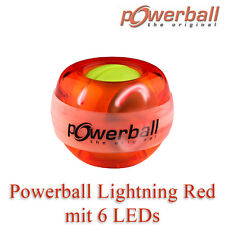 Handtrainer KERNPOWER Original Powerball Lightning Red mit 6 LEDs | Wrist Ball