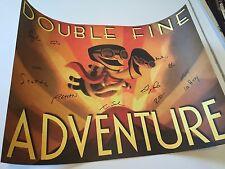 Double Fine Adventure Signed Poster Broken Age Scott Campbell Tim Schafer