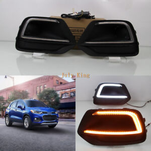 LED Daytime Running Lights DRL LED Yellow Turn Signals for Chevrolet Trax 2017+