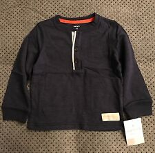 Carters Long Sleeve Button Pull Over Blue 24 Months NWT