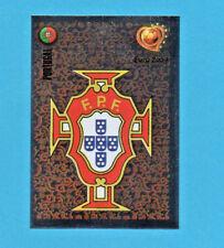 PANINI-EURO 2004-Figurina n.7-SCUDETTO/BADGE-PORTOGALLO -NEW BLACK