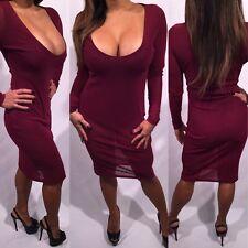 Connie's Sparkly Burgundy Stretch Semi Sheer Club Dress W Built in Body suit  M