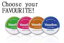 VASELINE LIP BALM Therapy Petroleum Jelly Tinted Heals Dry Chapped Lips 20g