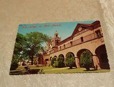 Retro Postcard SAN FELIPE DE NERI CHURCH OLD TOWN PLAZA ALBUQUERQUE NEW MEXICO