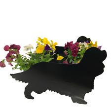 Cavalier King Charles Spaniel Dog Garden Planter Flower pot holder
