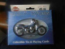 Harley Davidson Motorcycles Collectible Tin W/2 Decks Of Playing Cards 2001