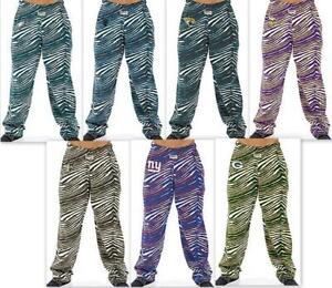 Zubaz NFL Zebra Print Pants, Various Teams and Sizes