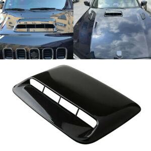 Car Accessories Black Air Flow Intake Hood Scoop Vent Bonnet Cover ABS Decor