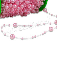 5/10/60M Fishing Line Artificial ABS Pearl Beads Chain Garland Wedding Decor S