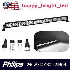 42inch 240W Philips Led Work Combo Flood Spot Light Bar Driving 4WD Jeep Auto HA