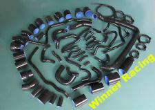 silicone hose FOR Nissan 300ZX Fairlady Z32 VG30DETT 1990-1999 COOLANT BLACK