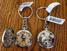 (1) Disney Mickey Icon Pocket Watch Design Key Chain / Key Ring NEW