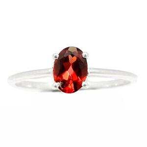 Garnet, Madagascar 925 Sterling Silver Ring Jewelry s.8 BR86646
