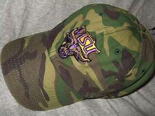 New Mankato State University MSU Mavericks Camo Adjustable Hat Cap NCAA 47 Brand