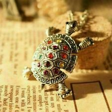New Women Crystal Tortoise Sea Turtle Pendant Necklace Sweater Chain Jewelry