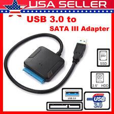 "USB 3.0 to SATA III Hard Drive Adapter Cable 2.5"" 3.5"" SATA SDD HDD to USB 3.0"