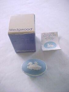 1979 Wedgwood Blue Jasperware Easter Egg in Original Box