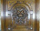 French Antique Deep Carved Panel Door Lion Head Oak Wood   N 2
