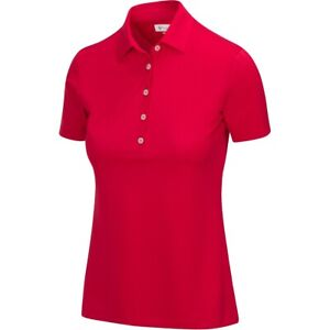 Greg Norman Womens Freedom Micro Pique Polo Golf Shirt G2S21K450 - New 2021