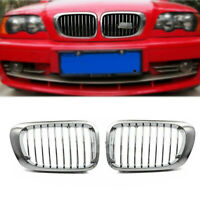 Chrome Grilles Front Grill For BMW E46 2Dr M3 2001-2006 325Ci 330Ci 2001-2003 #C
