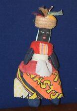 Vintage Jamaican Voodoo Souvenir Cloth Rag Doll Handmade Folk Art Ethnic