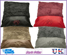 New Pet Bed Plush Leather Washable Zip Cover Different Colours Available