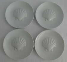The Cellar Whiteware Seashell Plates x 4 Nautical Scallloup Shell Raised Macy's