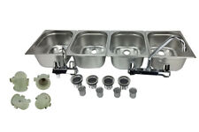 4 Large Compartment Concession Sink Portable 4 Traps Hand Washing Food Truck