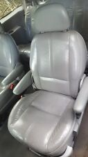 1999 FORD WINDSTAR LH DRIVER REAR 2ND SECOND ROW BUCKET SEAT LEATHER GRAY 99-03
