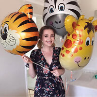 Animal Foil Balloons Kids Decor Safari Jungle Birthday Party Baby Shower