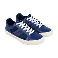 Original Penguin Bruce OP100667M Mens Blue Leather Low Top Sneakers Shoes 12